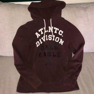 AM EAGLE hoodie 'atlantic division' maroon Sz L